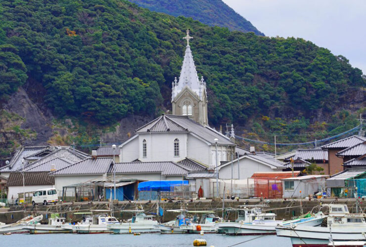 世界文化遺産に登録された天草の崎津集落と教会
