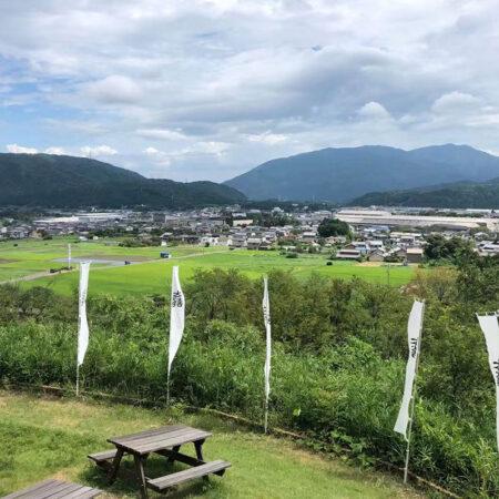 石田三成陣跡から関ケ原を眺める